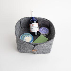Panière Nature - Huile délicieuse, déodorant solide lavande, shampoing solide cheveux normaux, savon chanvre